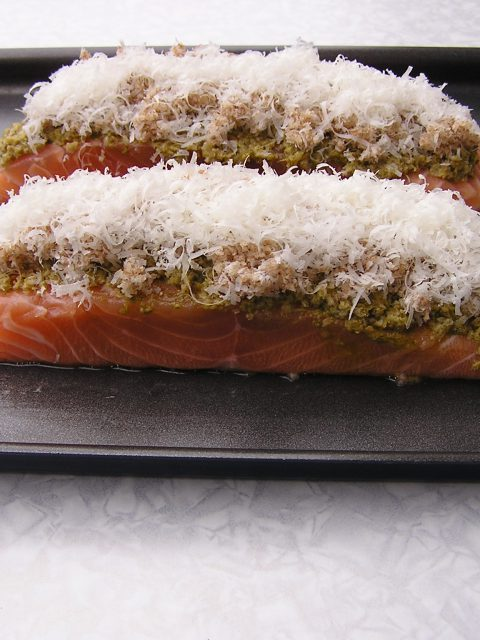 Pesto Parmesan Salmon