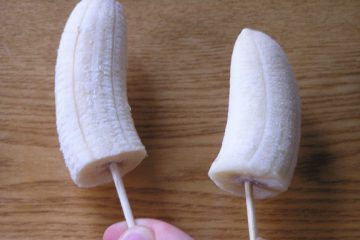 Simple Banana Lolly Pops