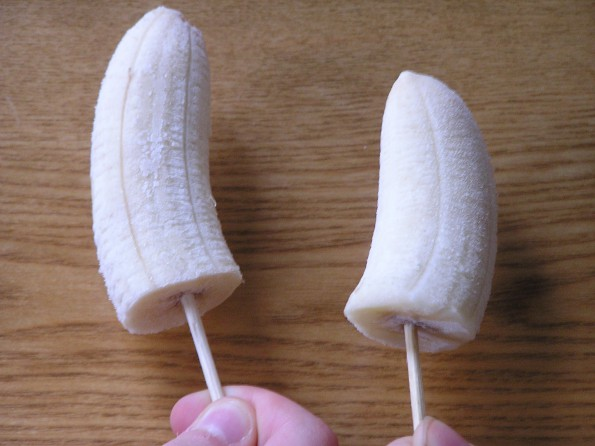 Simple Banana Lolly Pops